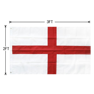 FLAGBURG England Flag,Durable St. George Cross Flag with Sewn Stripes, Canvas Header & Brass Grommets, Vivid Color, Triple Stitching, High-Grade Outdoor Nylon Flags for All-Weather
