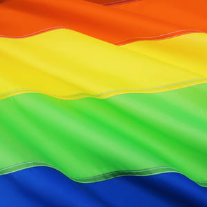 FLAGBURG Rainbow Flag with Sewn Stripes, LGBTQ Flags, Gay Lesbian Pride Flag with Brass Grommets, Vibrant Color (Not Print), UV Fade Resistant, Long Lasting Flag for Peace/Equality/Pride