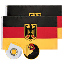 Load image into Gallery viewer, FLAGBURG German State Ensign Flag, Long Lasting Germany Eagle Flag with Heavy Duty Embroidered, Brass Grommets, Vibrant Color, UV Fade Resistant, High-Grade Outdoor Flags for All-Weather