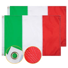 Load image into Gallery viewer, FLAGBURG Italy Flag, Italian Flag,Durable Large 210D Nylon Flag Canvas Header & Brass Grommets, 100% High-Grade Outdoor Nylon for Outdoor Indoor Decoration/Festival