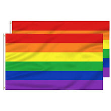 Load image into Gallery viewer, FLAGBURG Rainbow Flag with Sewn Stripes, LGBTQ Flags, Gay Lesbian Pride Flag with Brass Grommets, Vibrant Color (Not Print), UV Fade Resistant, Long Lasting Flag for Peace/Equality/Pride