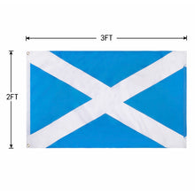 Load image into Gallery viewer, FLAGBURG Scotland Flag,Scottish Flag with Sewn Stripes, Canvas Header & Brass Grommets, Vivid Color, Triple Stitching, High-Grade Outdoor Nylon Saint Andrew's Cross Flags for All-Weather