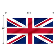 Load image into Gallery viewer, FLAGBURG United Kingdom Flag 5x8 Ft,UK Flags Durable Union Jack Flag with Print Vivid Color and UV Fade Resistant, Canvas Header and Double Stitched,Outdoors Indoors Flags with Brass Grommet