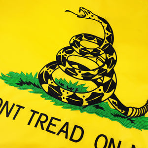 FLAGBURG Gadsden Flag, Don't Tread on Me Flags with Heavy Duty Embroidered and Brass Grommets, Vibrant Color, UV Fade Resistant, Durable Rattle Snake Flag for Outdoor Indoor Use
