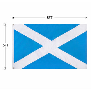 FLAGBURG Scotland Flag,Scottish Flag with Sewn Stripes, Canvas Header & Brass Grommets, Vivid Color, Triple Stitching, High-Grade Outdoor Nylon Saint Andrew's Cross Flags for All-Weather