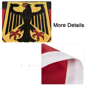 FLAGBURG German State Ensign Flag, Long Lasting Germany Eagle Flag with Heavy Duty Embroidered, Brass Grommets, Vibrant Color, UV Fade Resistant, High-Grade Outdoor Flags for All-Weather