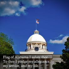 Load image into Gallery viewer, FLAGBURG Alabama State Flag 3x5 FT, AL State Flags with Sewn Stripes (Not Print), Canvas Header & Brass Grommets, 100% High-Grade Outdoor Bama State Nylon Flag for All-Weather Outdoor Display
