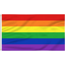 Load image into Gallery viewer, FLAGBURG Rainbow Flag, LGBT Flags - Durable Polyester Gay Pride Lesbian Flag Banner, Vivid Color, Double Stitched and Fade Resistant with Canvas Header & Brass Grommets for Outdoor Parade