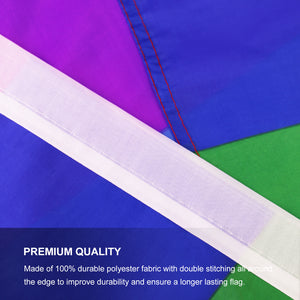 FLAGBURG Rainbow Flag, LGBT Flags - Durable Polyester Gay Pride Lesbian Flag Banner, Vivid Color, Double Stitched and Fade Resistant with Canvas Header & Brass Grommets for Outdoor Parade