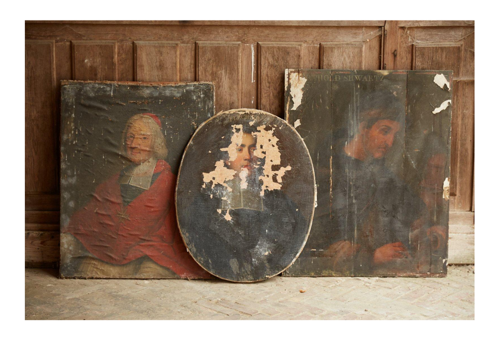 antique paintings portraits religious french