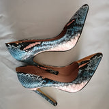Snake Print Heeled Party Shoes