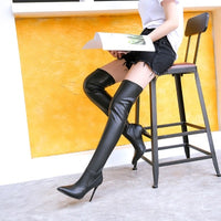 sexy over-the-knee stovepipe boots for women - Kakas-collection
