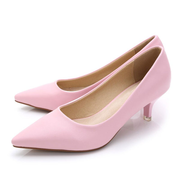 Genuine Leather Fashion Pumps for ladies