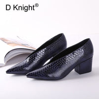 Block Heel Patent Leather Shoes Women