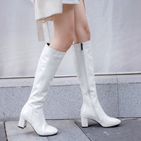 Patent Leather High Knee Boots  for women - Kakas-collection