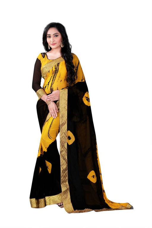Multicoloured Printed Chiffon Saree