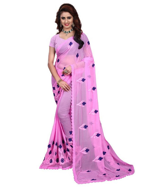 Embroidered Fashion Chiffon Saree