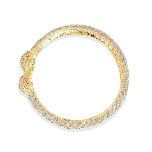 Gold Plated American Diamond Bangle Set For Girls & Women