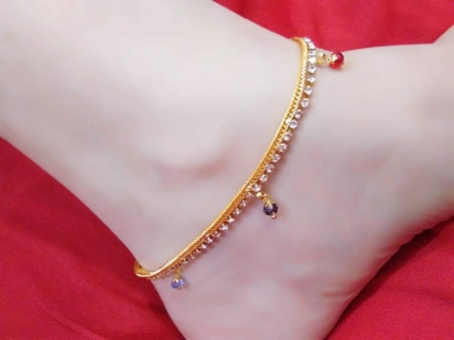 American Diamond Fancy Anklet for Woman