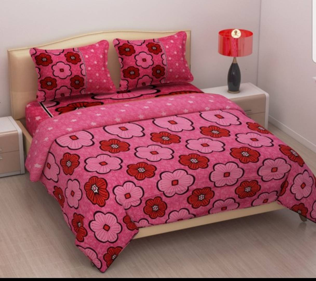 Polycotton Printed Double Bedsheets