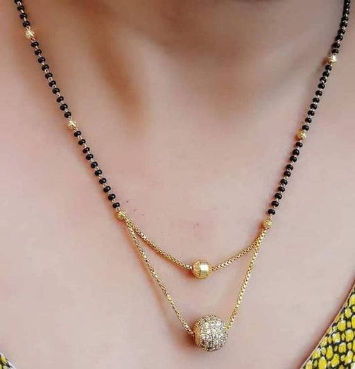 Traditional Layer American Diamond Mangalsutra for Woman
