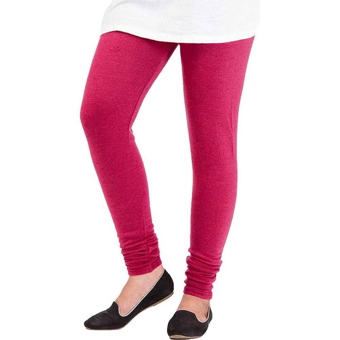 Amazing Solid Winter Woolen Women Leggings(Pack Of 3)