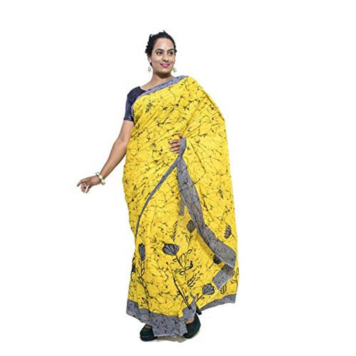 Cotton Printed Saree with Blouse piece