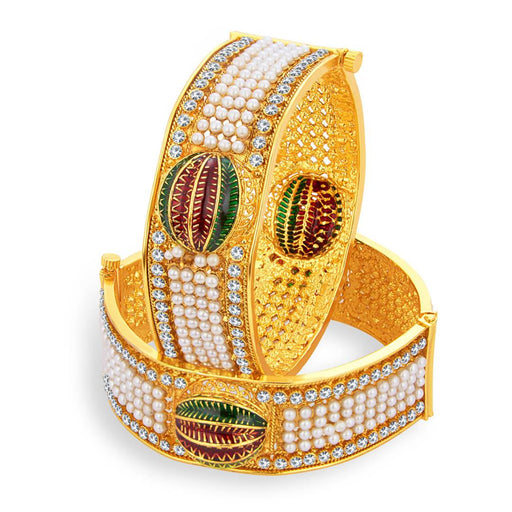 Glimmery Gold Plated Bangle For Women