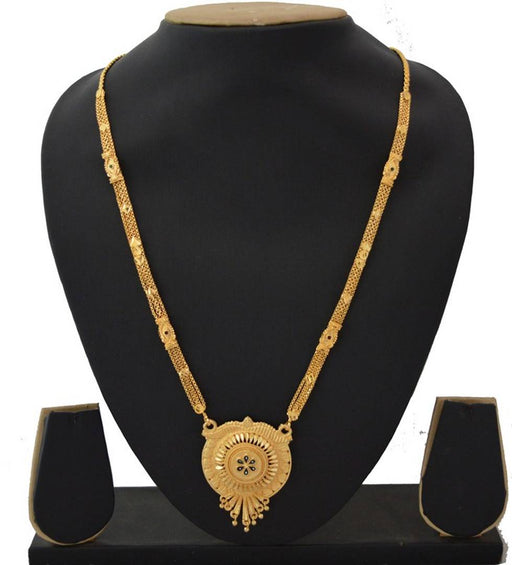 Women's Golden plated Beautiful Long Mangalsutra with Small Earring