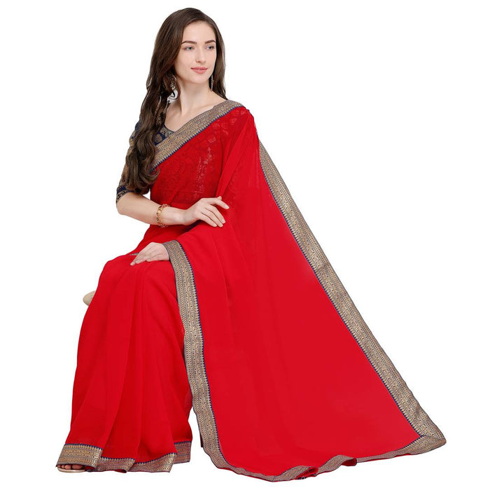 Beautiful Chiffon Saree with Blouse piece