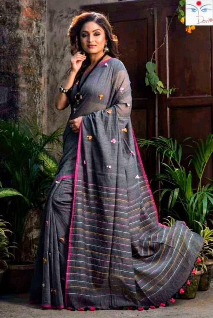 Khadi Cotton Saree with Blouse piece