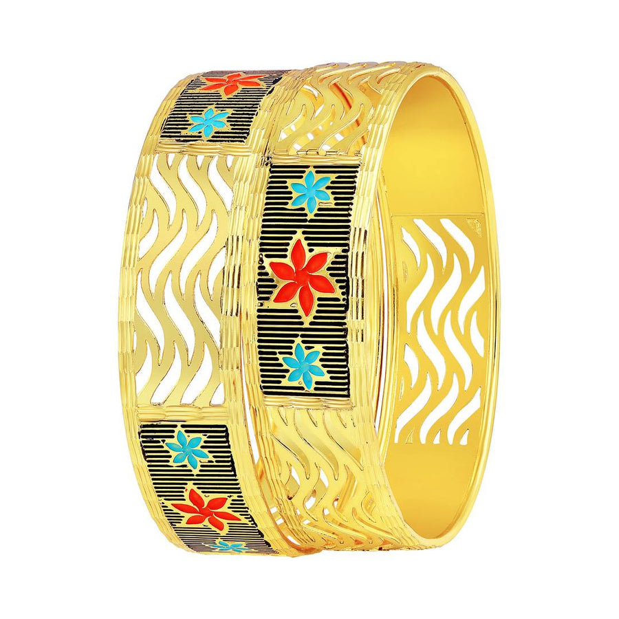 Charming Meenakari Gold Plated Bangle For Women