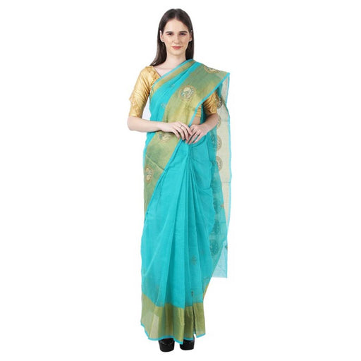 Attractive Cotton Kota Doria Saree with Blouse piece