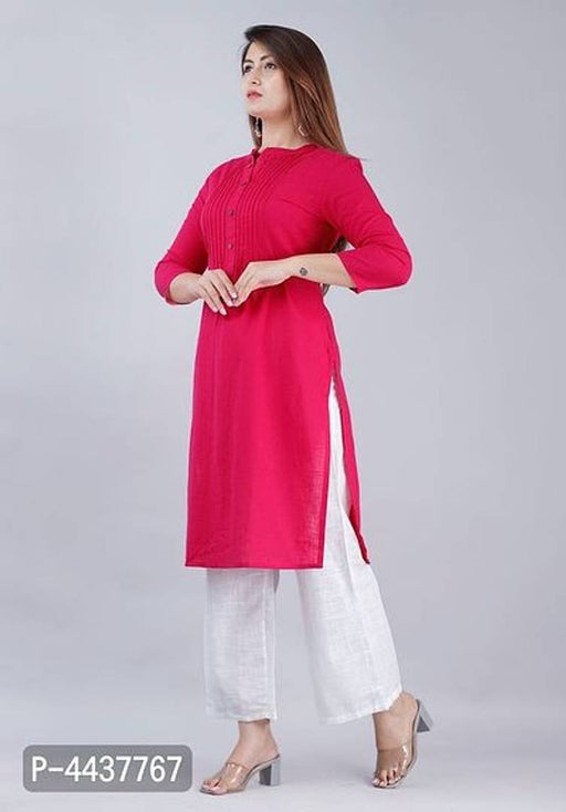Women's Solid Straight Kurta