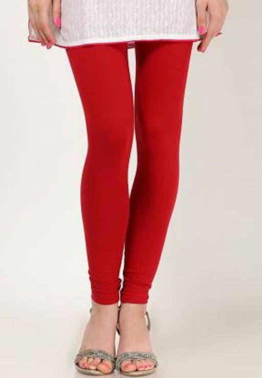 solid cotton churidar leggings