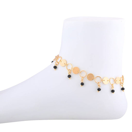 Gold Plated Adjustable Charm Anklet For Women