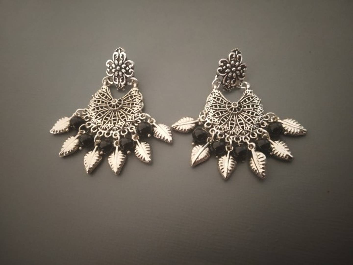 Beautiful Oxidised Silver Earring for Women