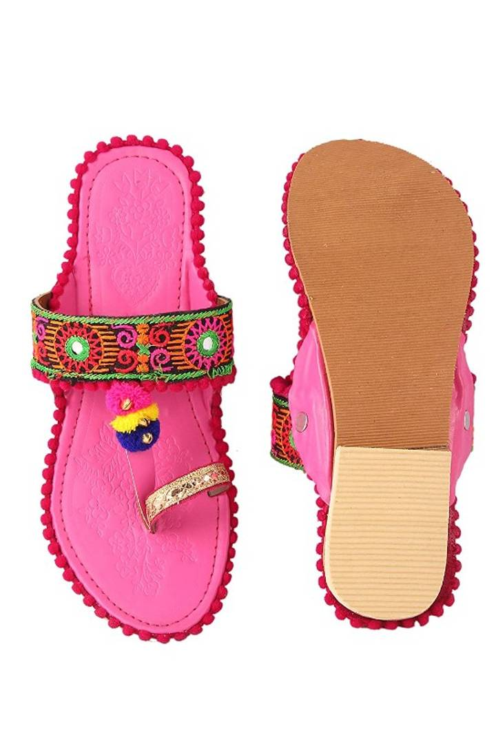 Stylish Synthetic Leather Slipper For Women