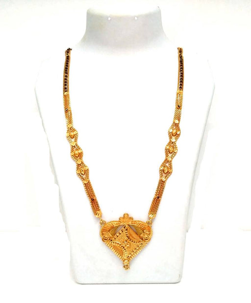 Trendy Brass & Copper Beaded Mangalsutra