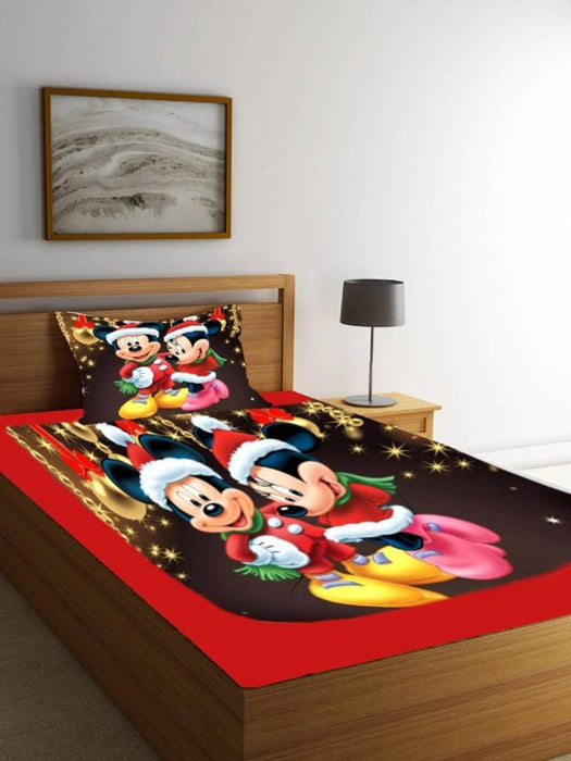 Beautiful Velvet Kids Single Bedsheet with 1 Pillowcover