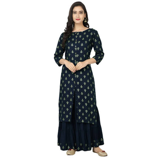 Rayon Kurti with Sharara For Women's