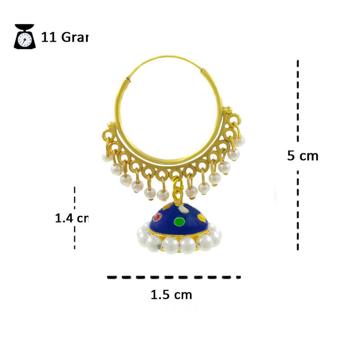 Gold Plated Traditional Meenakari Jhumki Earring For Girls/Women