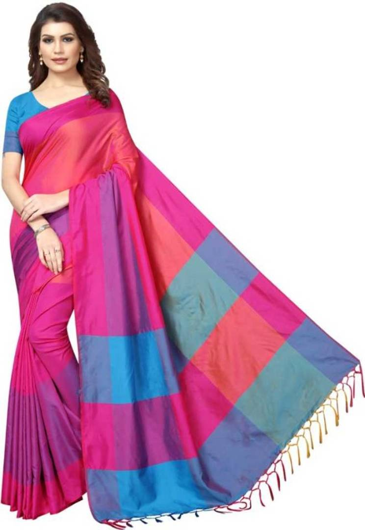 Beautiful Sana Silk Saree with Blouse piece