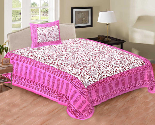 Jaipurethnic Single Cotton  Bedsheet and 1 Pillow Cover
