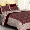 Jaipurethnic traditinal bandhej printed double bedsheet 90x100 inches mehroon