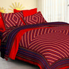 Traditional Pure Cotton bedsheets for Double Bed King Size 1 pc bedsheet with 2 Pillow Cover Bed Sheet- Size 90x108 Inches-Lehariya Red