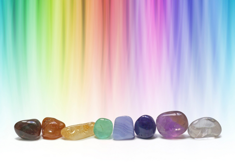 Color therapy with crystals by Goddess Provisions
