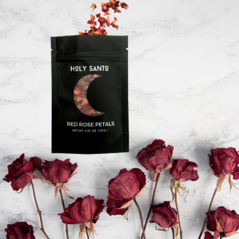 It's easy to see why intoxicating Rose petals are the most popular herb for love spells. In this post, Cj from Holy Santo shares with us some great ways to use rose petals like the Goddess you are. Check out her products in our boutique and sign up to receive our July 2021 Herbal Alchemy Box which features her red rose petals.