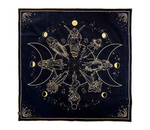 Moon Cycle Tarot Mat at Goddess Provisions