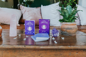 Connect with your intuition and deepen your self-care practice with The Sacred Self-Care Oracle & Guidebook by Jill Pyle, CEO & Co-founder of Goddess Provisions.
